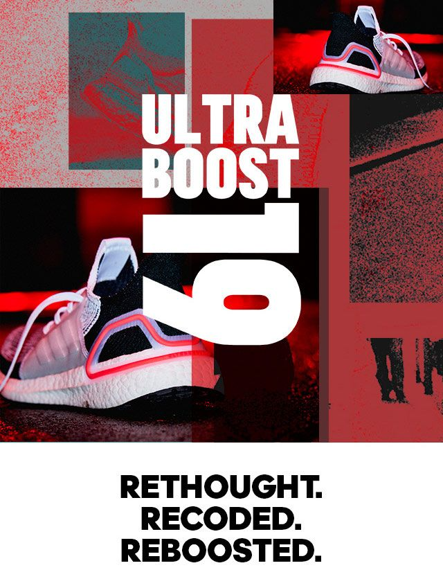 estaño pegatina Estimado  Ultraboost 19: Rethought. Recoded. Reboosted.   Ultra boost, Adidas,  Newsletter design