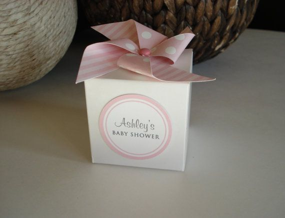 30 Baby Shower Favor Boxes Personalized Girl by sweetpartybliss