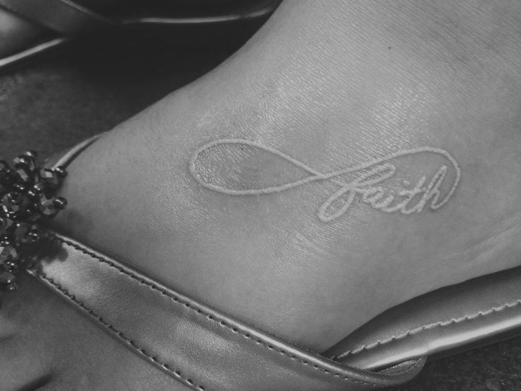 Faith tattoo.