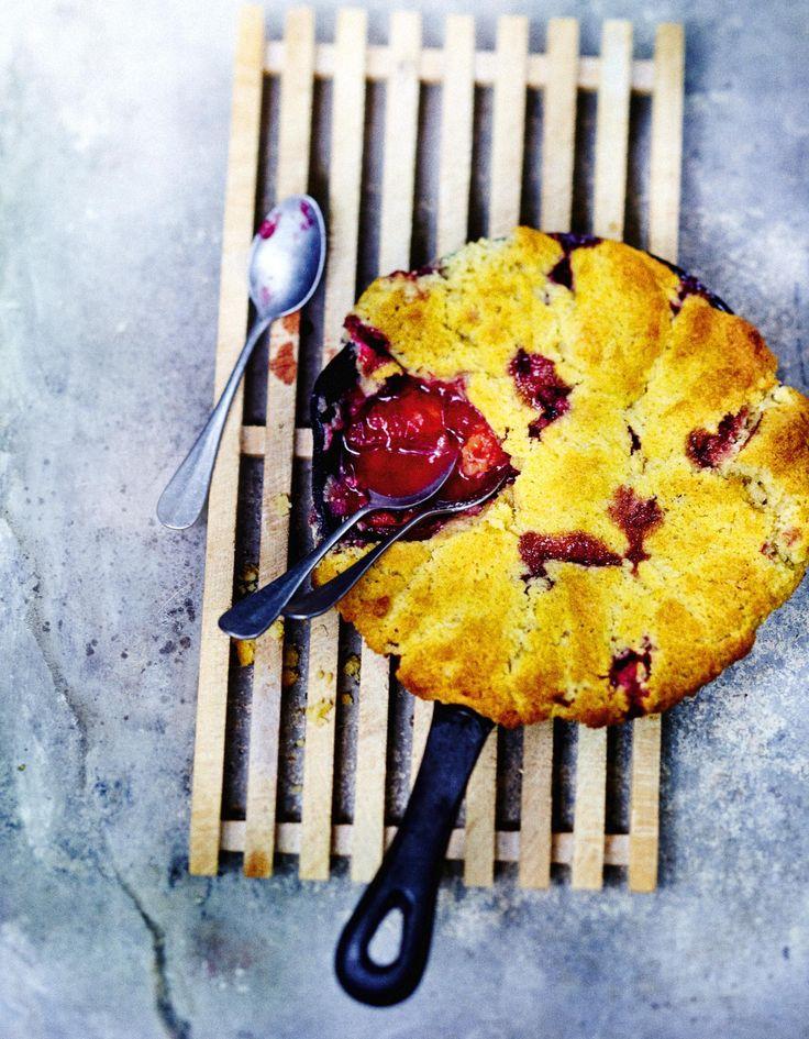 Tarte cobbler aux prunes pour 6 personnes - Recettes Elle à Table