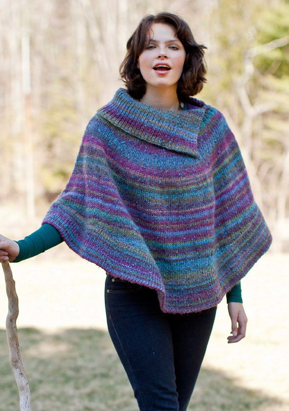 Free knitting pattern for Flutterwheel Poncho                                                                                                                                                                                 More
