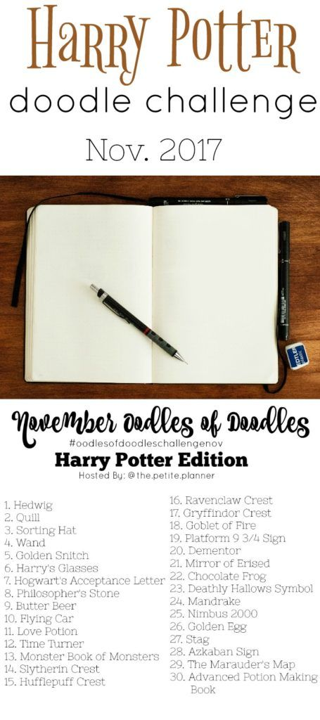 Join the November Oodles of Doodles Challenge with this Harry Potter themed challenge.