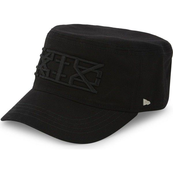 Ktz Military cotton cap (145 CAD) ❤ liked on Polyvore featuring men's fashion, men's accessories, men's hats, mens military hat, mens caps and hats and mens military style hats