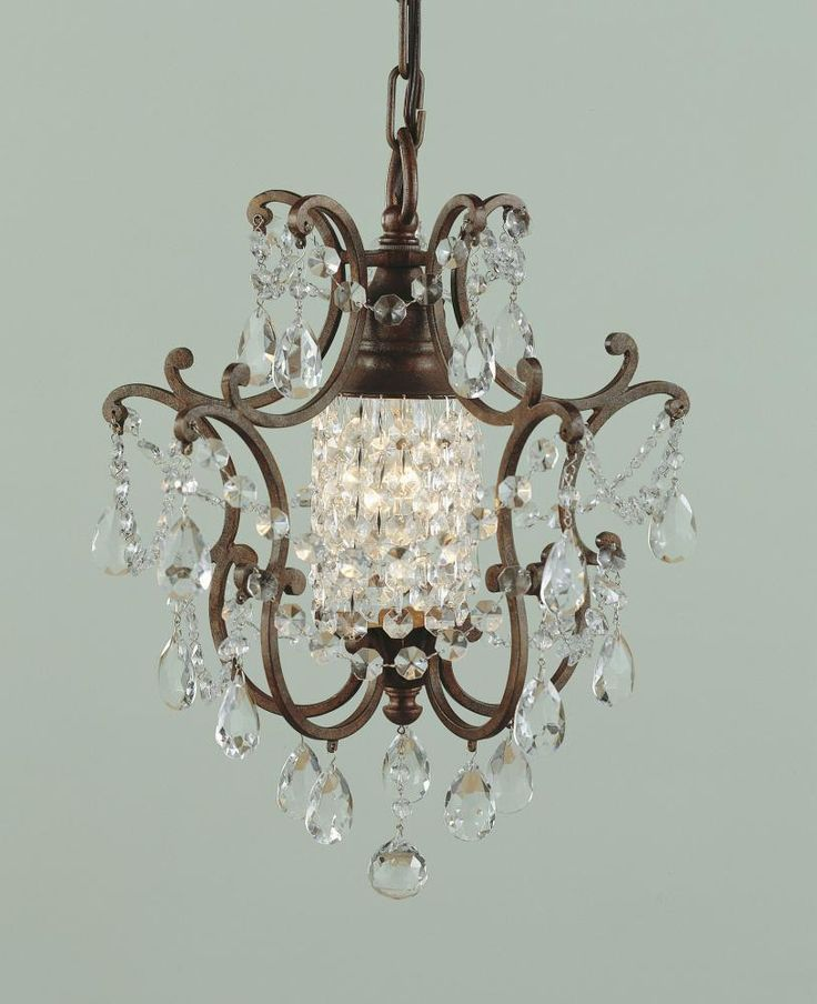 This mini crystal chandelier is great for dining entry - Small crystal chandelier for bathroom ...