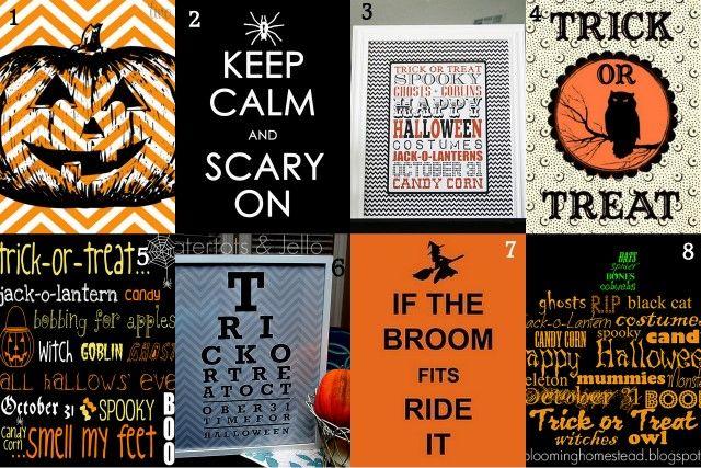31 Free Halloween Printables!