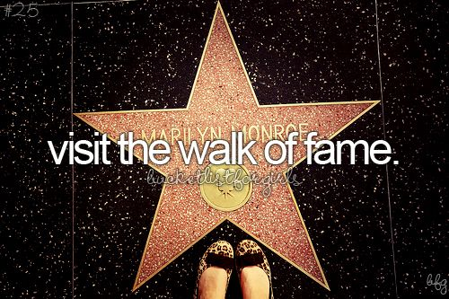 I want to be in the presence of all the stars and people that people appreciated, and I will feel appreciated too.