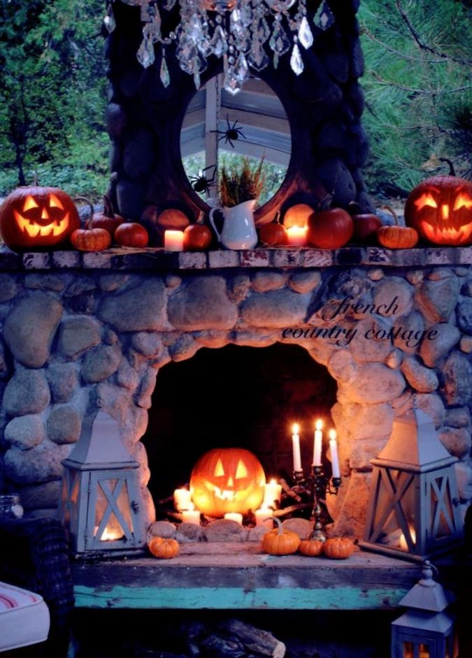 22 Best Images About Halloween Fireplace And Mantle On