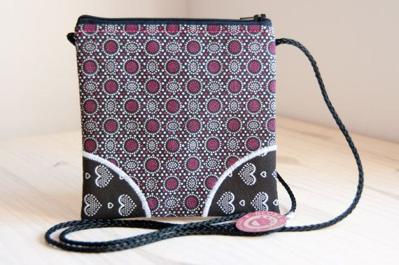 Too cute Shweshwe sling pouch. Etsy listing at https://www.etsy.com/listing/188617385/ncinci-shweshwe-sling-wallet-truly-south