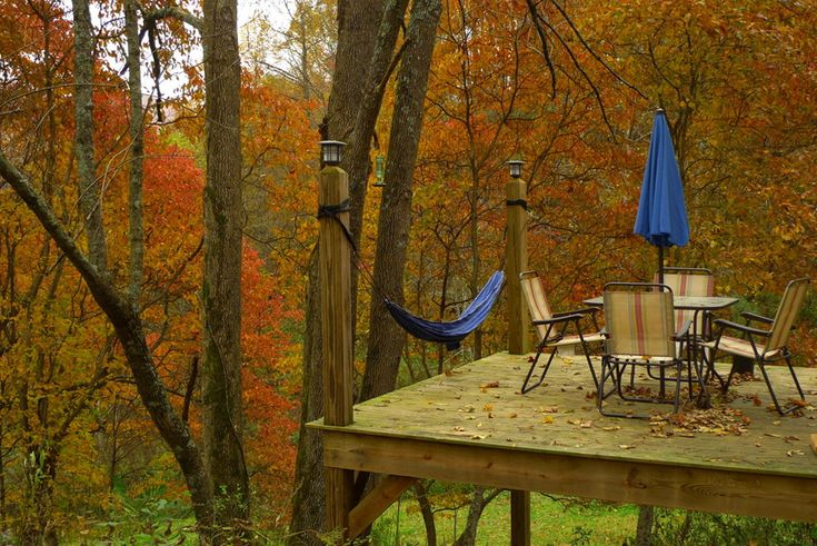 Hammock appalachian deck life for the cabin outdoors for Appalachian mountain cabins