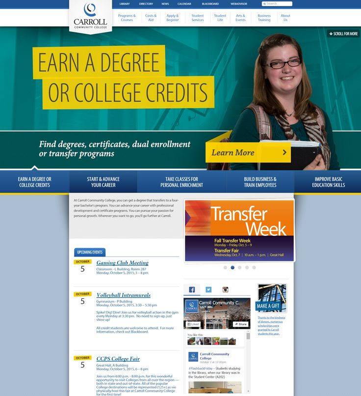 The college's new website went live on Aug. 26, 2015. Myself and the Manager of Web Technologies were the primary leads for the project's #contentmigration phase. I collaborated with department content editors, built-out pages and navigation menus, and, in many cases, rewrote copy. The site was designed by VisionPoint and built by The Nerdery. #website #ektron #ellucian