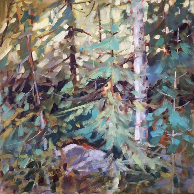 """""""Where Friends Meet"""" (24 inches by 24 inches).  Available for purchase at META4 Gallery, Port Perry, Ontario, Canada"""