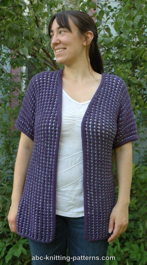 ABC Knitting Patterns - Subtle Mesh Summer Cardigan