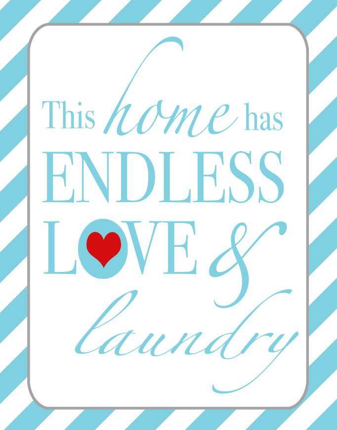 FREE Laundry Room Printable by TrainingSaints.com