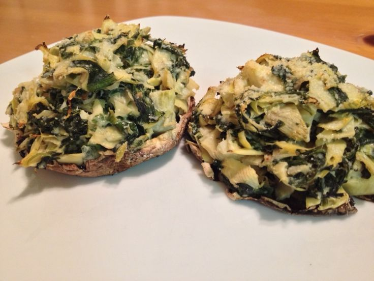 Portobello Mushrooms Stuffed With Spinach And Artichoke Dip Recipes ...