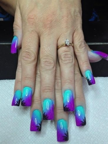 Airbrush fun by luvladyrisa - Nail Art Gallery nailartgallery.nailsmag.com by Nails Magazine www.nailsmag.com #nailart