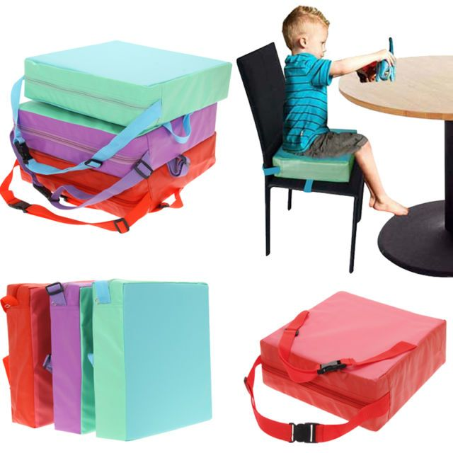 Children Booster Chair Pad Dining Room Baby Kids Seat Soft Leather Cushion Cover
