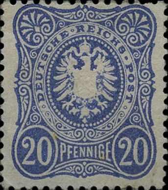 "Briefmarke: ""PFENNIGE"" with final ""E"". (Deutschland (Deutsches Reich)) (Eagle) Mi:DR 34,Sn:DR 32,Yt:DR 33"
