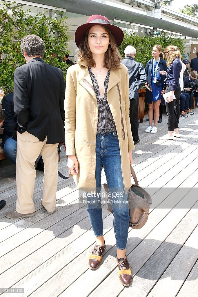 Actress Alma Jodorowsky attends the 2016 French Tennis Open - Day Four at Roland Garros on May 25, 2016 in Paris, France.