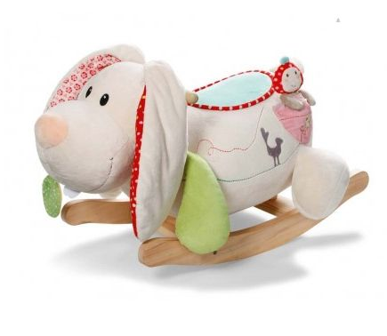 My first Nici Rabbit Tilli Sit On Rocker ~  Your little one will have hours of fun rocking on Tilli the Rabbit.  Tilli's is made of a plush material body with pretty floral lining and wooden rockers.  There is a little pocket on the side with a removable toy, Maila.  £94.99 http://www.littlerascalschildrensgiftsandparties.co.uk/#!product-page/c4i0/cd2dcfbf-713d-b1d3-2662-38e09749bc53