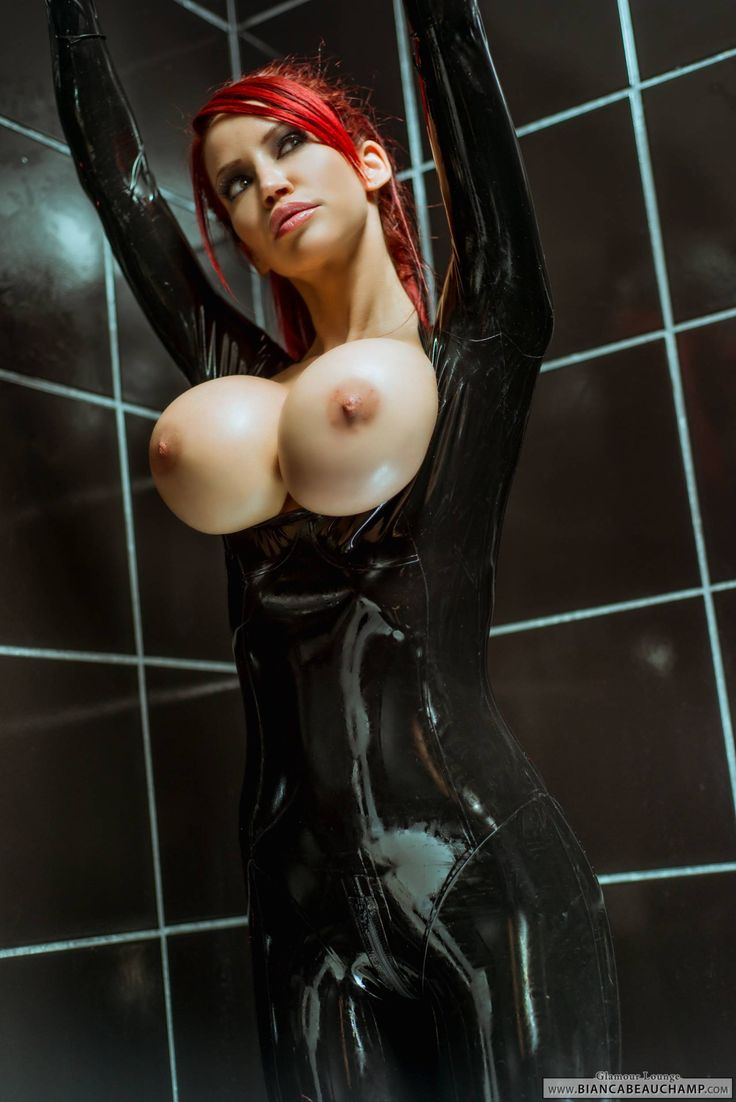 Big tits latex