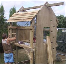 Ladder diy play fort