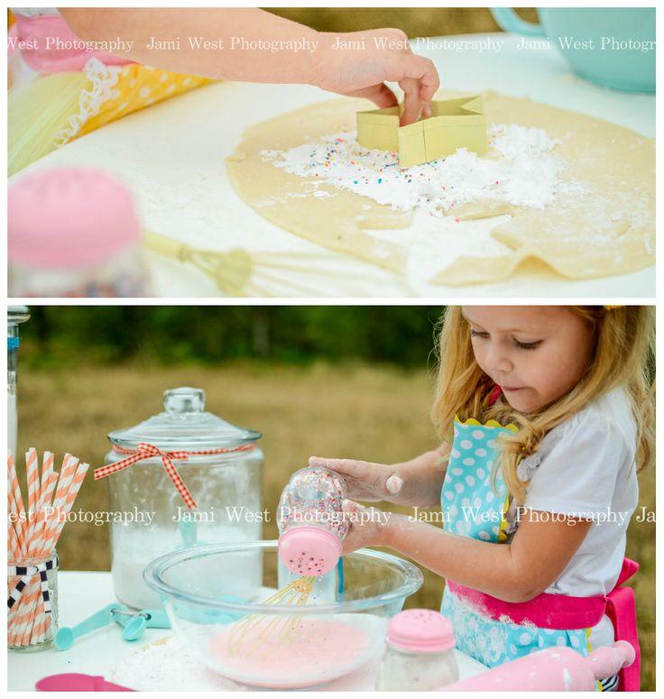 Mini session ideas, bake shoot, girls, aprons, child photography. Jami West Photography