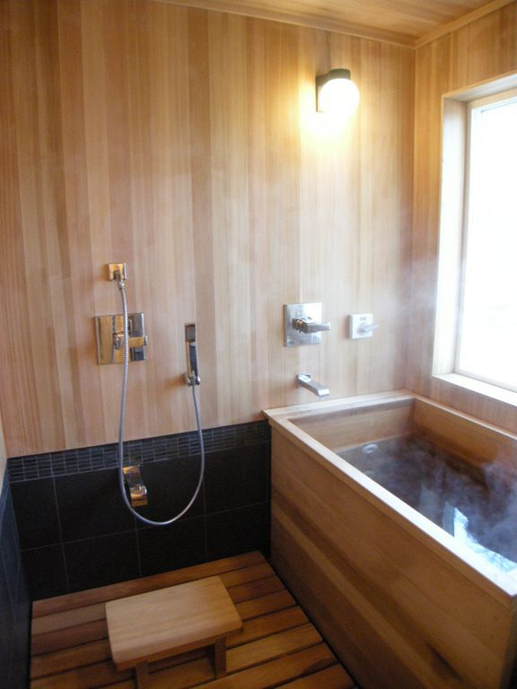 bathroomwinsome small japanese bathroom design with wood tub and globe wall sconces also wooden