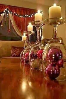Vision Déco by Sofia | Noël, décoration  |  Transformez vos verres en bougeoirs