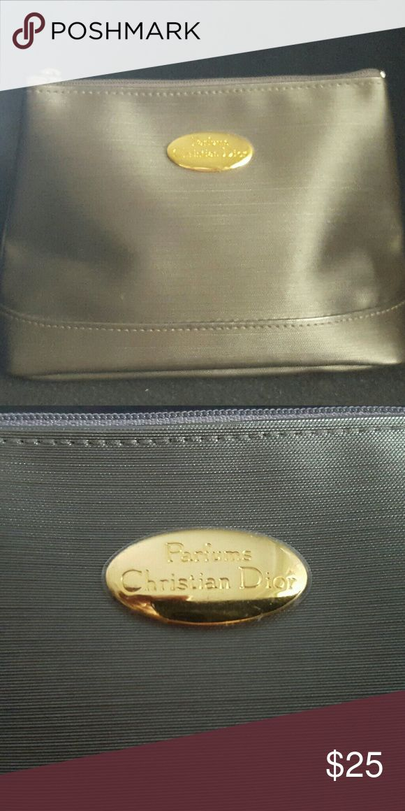 "Christian Dior Parfumes Cosmetic Case This hard-to-find, authentic gift with purchase is gently used and very stylish. Measurements: 6.5"" l x 4.5"" h x 2"" d. Christian Dior Bags Cosmetic Bags & Cases"