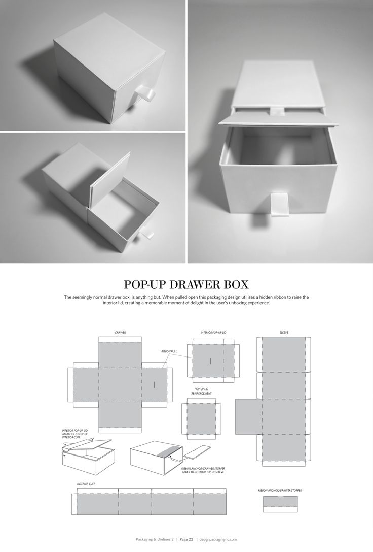 Pop-Up Drawer Box – FREE resource for structural packaging design dielines