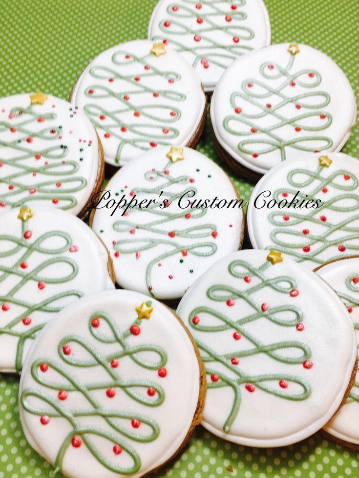 Christmas Tree Cookies (christmas cupcake icing)