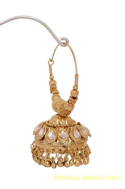 Indian Jewelry | Earrings - goldplated jhumi bali earring | Indian Jewelry