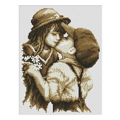 New~Needlework~Counted Cross Stitch Kit-First kiss DIY Embroidery