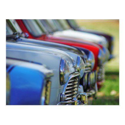 Vintage mini cooper cars automobile postcard - vintage gifts retro ideas cyo