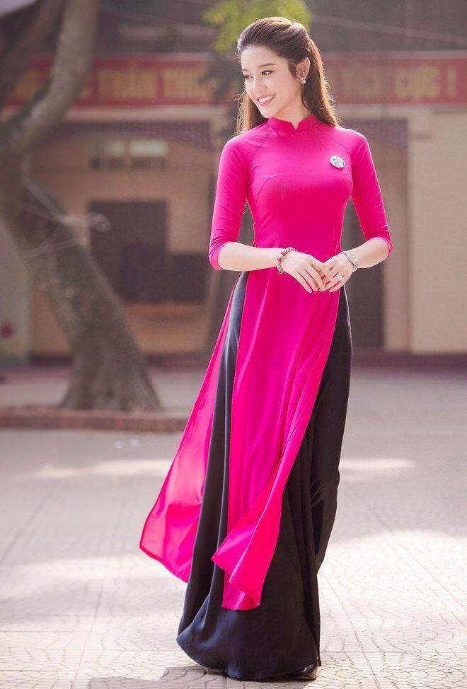 Pink and black (ao dai) More