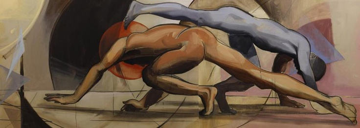 Great Capoeira painting by artist 'Maliq Mir' (we think)