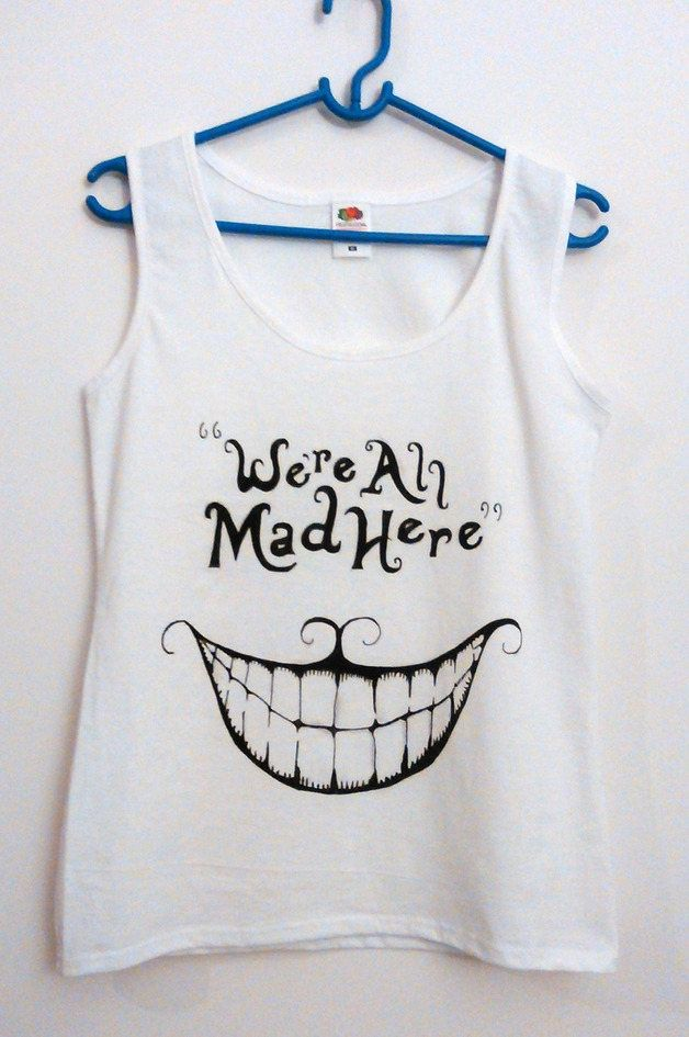 alice in wonderland shirt,chesire cat,cat shirt,disney shirts,funny tshirts,womens tshirts,graphic,Women's Clothing,sale,we are all mad here by EvienArt on Etsy