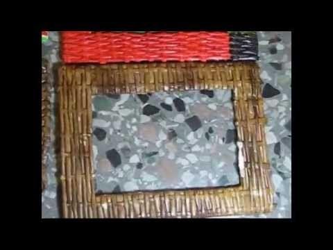 Cesteria de un marco para foto de periodicos. Parte 1.1. - YouTube