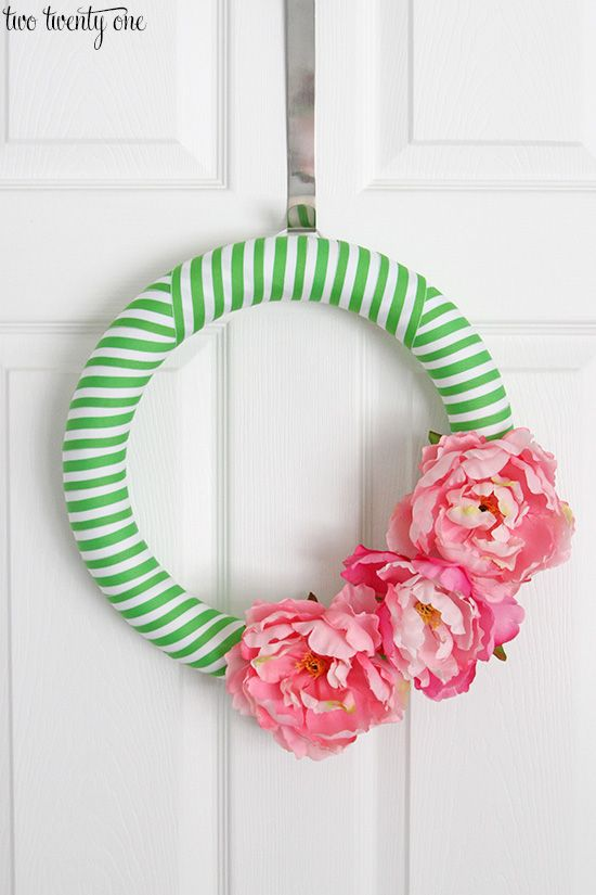 Preppy Spring Wreath from Two Twenty One