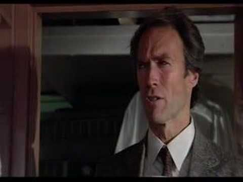 Clint Eastwood in Sudden Impact. One of the first scenes getting coffee