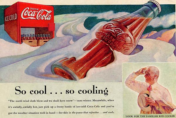 Check out this retro Cocacola ad!: Cocacola Observed, Coke Ads, Coke Ads, Posters Noticed, Vintage Cocacola, Vintage Coke, Cocacola Stu, Retro Vintage, Vintage Coca Cola