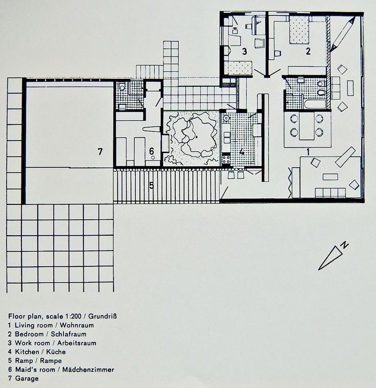 Portinho House Affonso Reidy 1950 Floor Plan