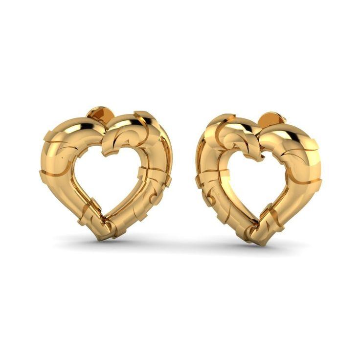 Golden Heart Studs