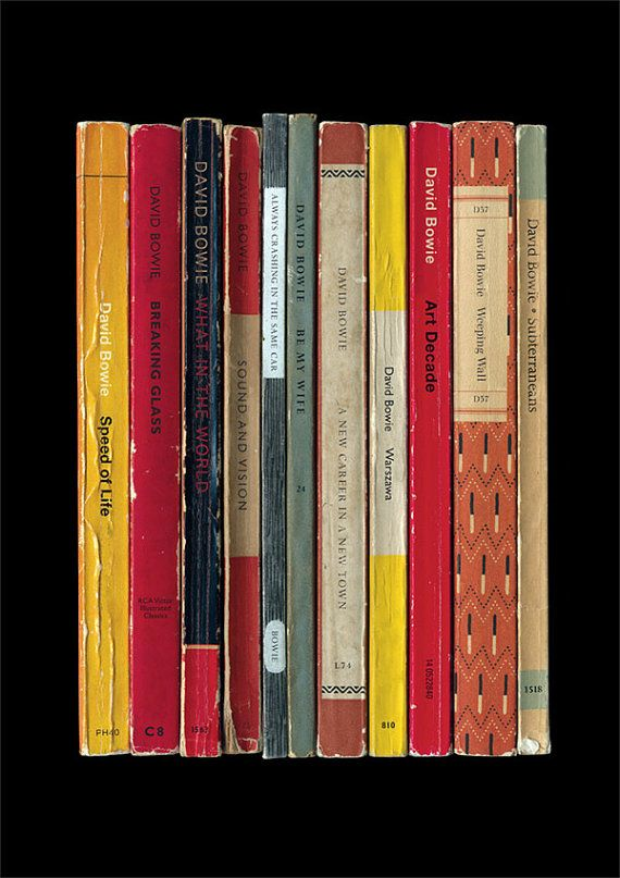 David Bowie 'Low' Album As Penguin Books Poster Berlin Trilogy 1977 Literary Music Print LOVE THESE