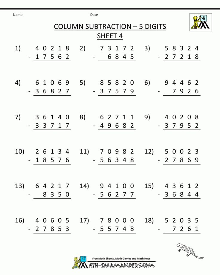 Free Printable 5th Grade Math Practice Worksheets in 2020 ...