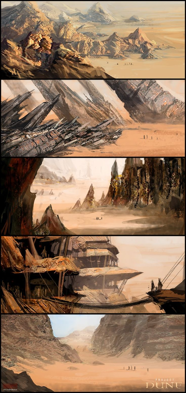 Mark Molnar - Sketchblog of Concept Art and Illustration Works: Dune Project