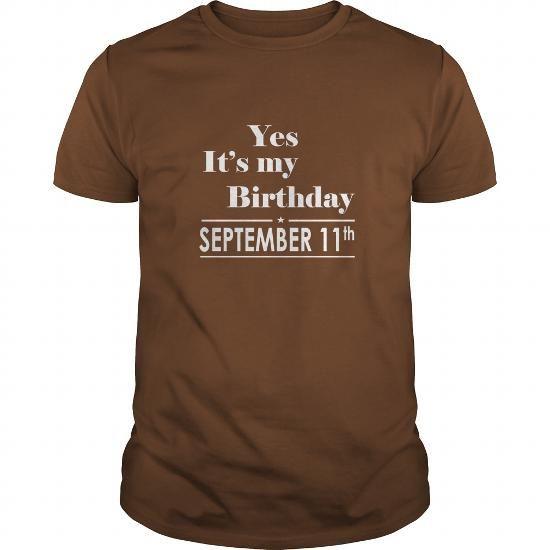 I Love Birthday September 11 tshirt  Shirt for womens and Men Birthday September 11 - birthday, queens T-Shirts