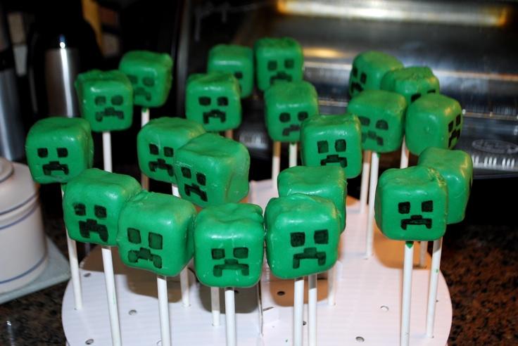 Creeper Cake Pops Minecraft Love Pinterest Cake Pop
