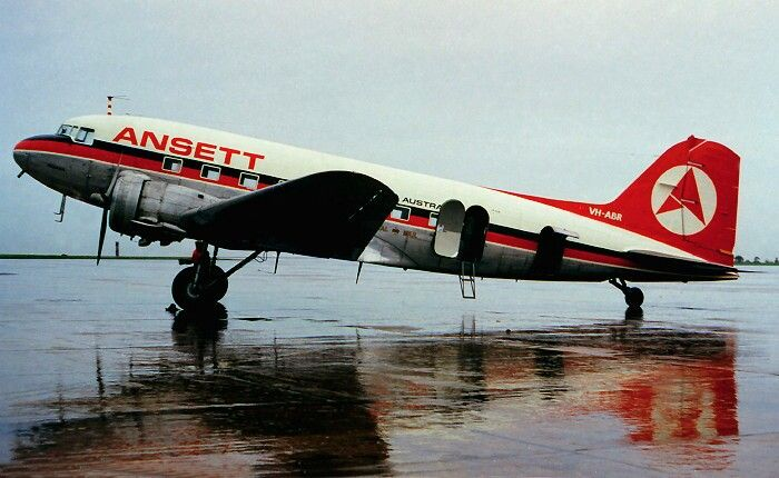 Ansett Airlines of Australia DC3, image google search