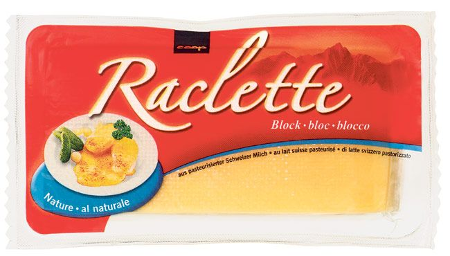 Raclette cheese - melt it slightly in a pan and put over cooked or baked potato. serve with pickles